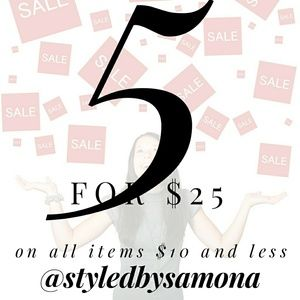 Accessories - 5 for $25 sale